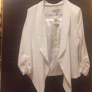Jackets & Blazers - NWT White Waterfall Blazer